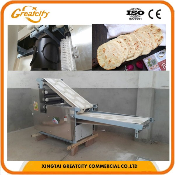 2017 Chinese Supplier Electric Automatic Dough Press Machine Roti ...