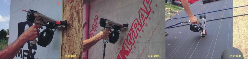 Fix Cardboard To Pallet Cap Nail Gun House Wrap Cap Coil