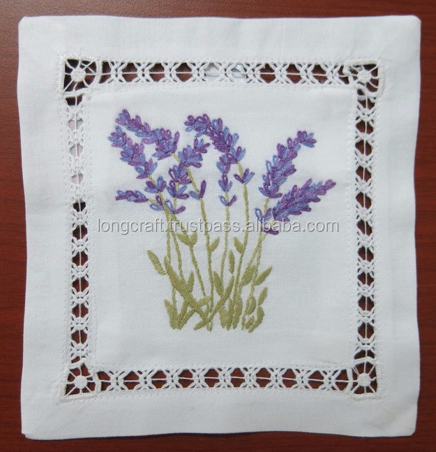 Hand Embroidered Lavender Sachetbagpillow Lavender Embroidery