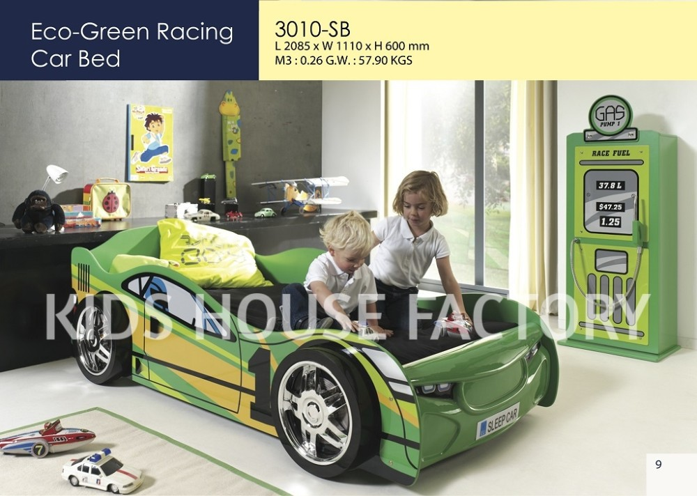 Eco Green Racing Car Bed Wooden Smart Kids Race Product On Alibaba