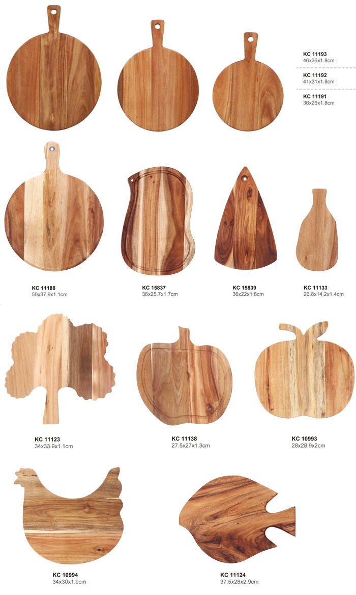 Acacia Wood Leaf Shaped Cutting board