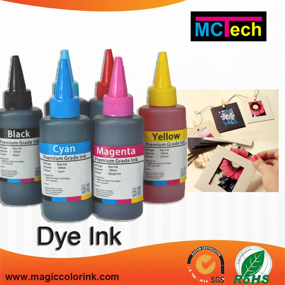 6 color Bottle ink refill dye ink for Epson L Series UV Resistant