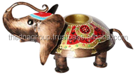 IRON PAINTED TEA LIGHT ELEPHANT