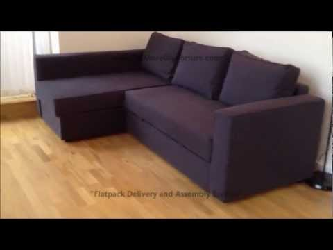 Get Quotations · IKEA Manstad Corner Sofa Bed With Storage