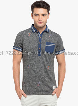 Latest Colorful Elegant Printing Pocket Polo Shirt Design Wholesale