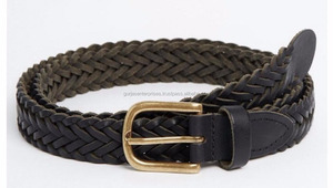 Genuine leather italian braided mixed belts