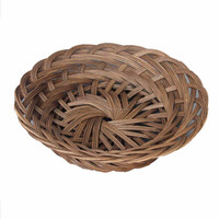 Elegant Round Wicker Tray/ Rattan food fruit tray