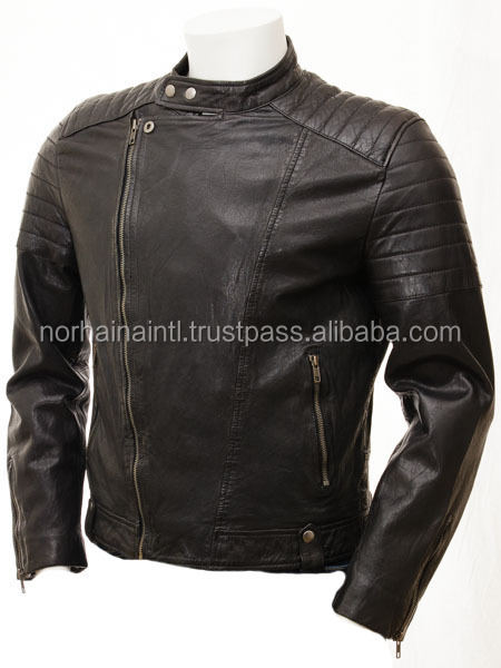 Black With Gold Zipper Leather Jacket Black With Gold Zipper
