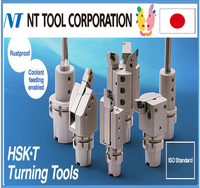 Rustproof HSK drilling and milling machine tool with coolant feeding feature