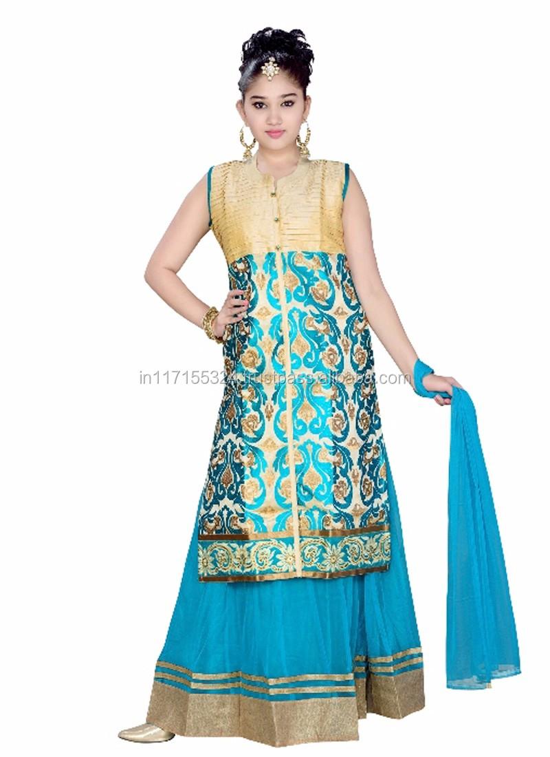 Child Boutique Clothing Party Wear Anarkali Dress - Salwar Kameez ...