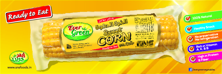 EVERGREEN Sweet Corn on Cob (Ready to Eat)