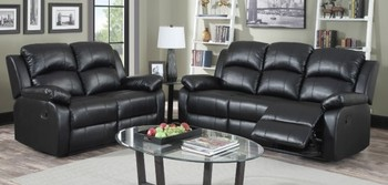 Recliner Sofa Set Leather 3 2