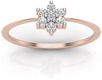 Indian Style Nakshatra Wedding Ring In Real Diamond 14k Rose Gold