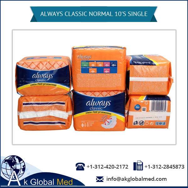 Always Classic Normal Clean Feel Protection Sanitary Pads Pack of 10