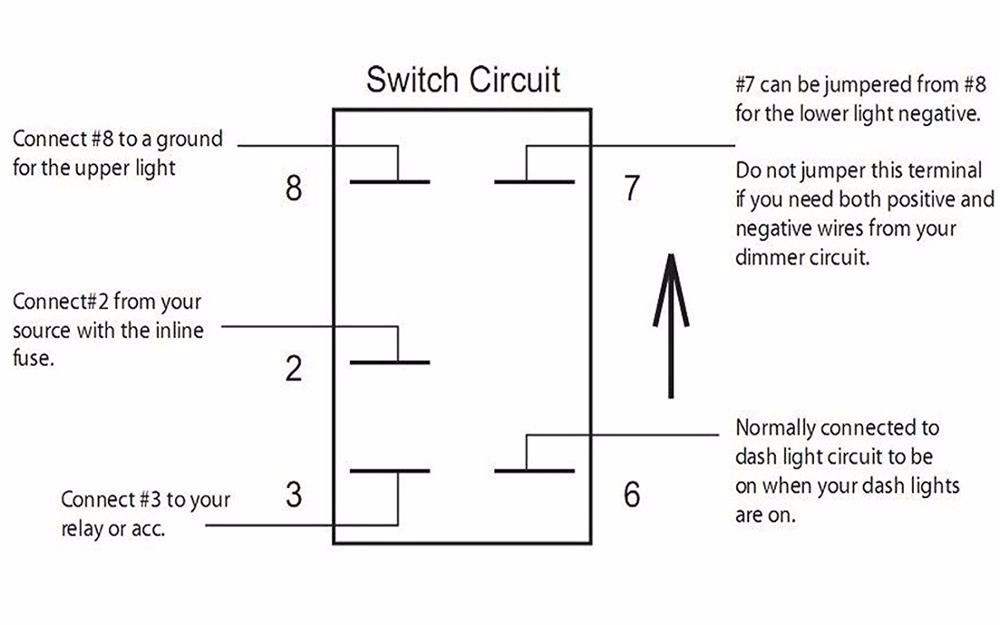 Quality Assurance Momentary Carling Lighted 5 Terminals 5    Pin       Rocker       Switch    Wiring    Diagram     Buy