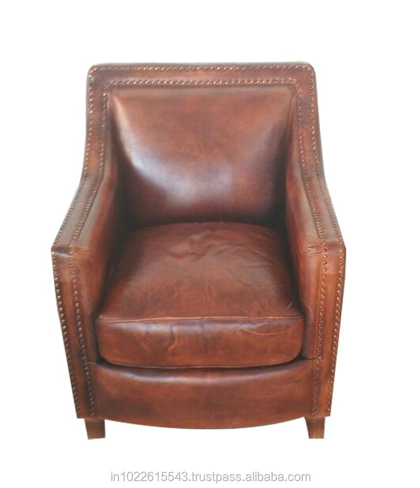 Pleasing Vintage Cigar Genuine Leather Club Chair View Vintage Cigar Leather Club Chair Garud Club Chair Product Details From Garud Enterprises India On Spiritservingveterans Wood Chair Design Ideas Spiritservingveteransorg