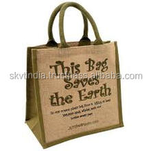 cheap wholesale printed jute shopping bag jute bag