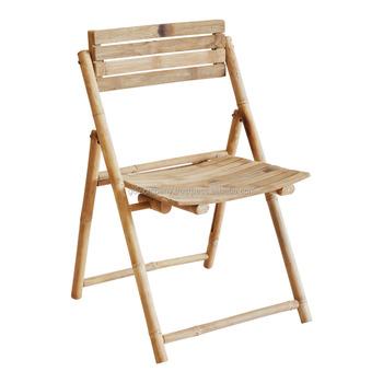 Vente En Gros Chaise Pliante Bambou De Salle A Manger
