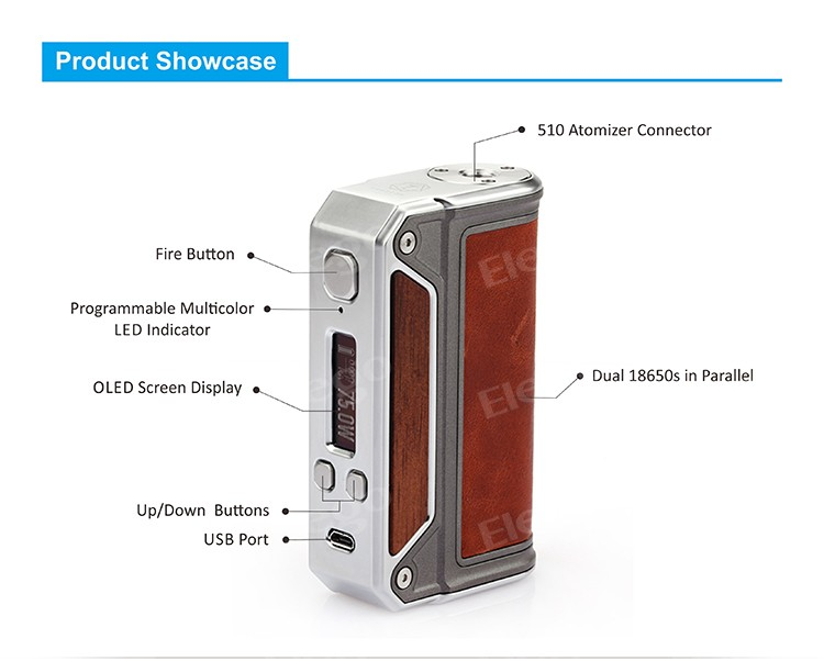 Lost Vape Therion Dna 75 Box Mod,Therion Dna 75w With Evolv Dna 75 Chip -  Buy Therion Dna 75,Dna 75,Therion Dna 75w Product on Alibaba com