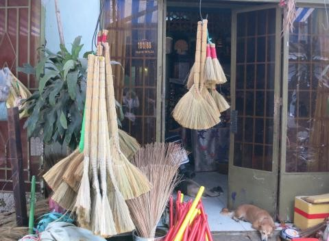 WHATSAPP +84 963949178/ VIETNAM GRASS BROOM & GRASS BROOM RAW MATERIALS - FACTORY PRICE - THE LOWEST PRICE IN THE MARKET