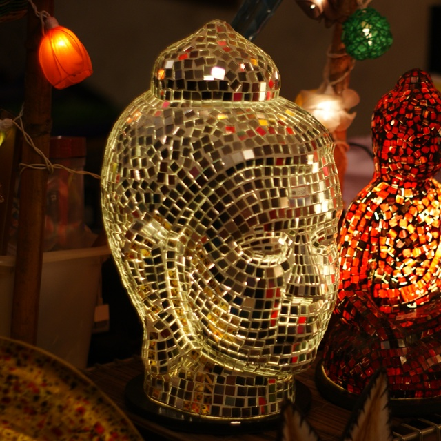 Buy Antique Handcrafted Buddha Lantern For Corporate: Buy Laughing Buddha Lamp,Stained Glass