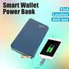 hot sale vintage cell phone canvas wallet for men Automatic alarm wallet