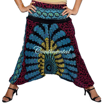 ddcab463b3 New Mandala Harem Genie Gypsy Aladdin Pants Festival Retro Yoga Hippie Boho  Loose Gypsy Hippie Baggy