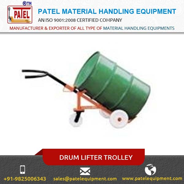 Drum Lifter Drum Can Be Rotated 360 Degree With The Help Of A Hand Gear