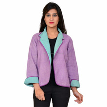 Reversible purple color pure cotton made best quality vintage jacket for women
