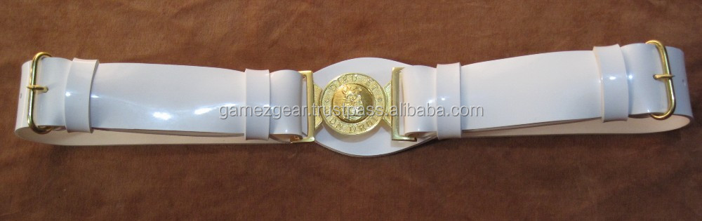 White PVC (Gloss or Matt) finish Ceremonial Belt