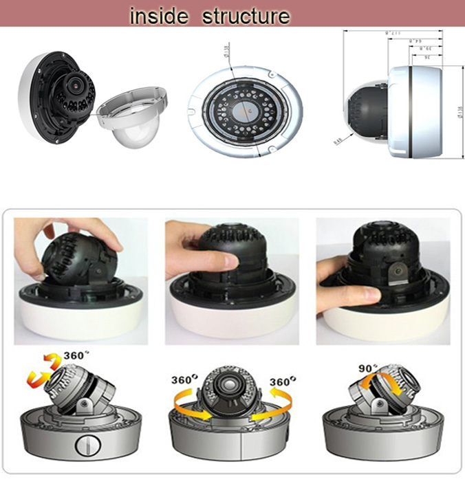 CCTV Home Video Surveillance 36 IR LEDs Night Vision 2.0MP AHD Security dome cctv Camer with 2.8~12mm lens