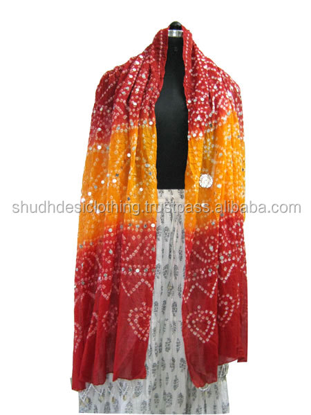 Rajasthani Tie Dye Sanganeri Jaipuri Dupattas Stoles