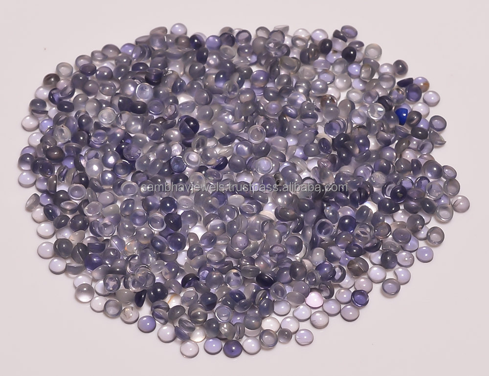 Wholesale lot price !! Loose Gemstones Best Quality Iolite Round Cabochon Gemstones