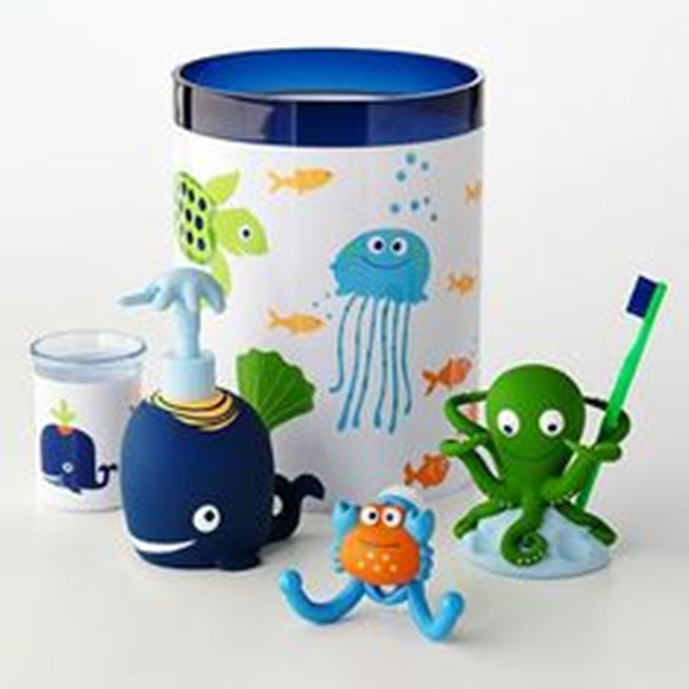 Toilet Toothbrush Holder Kids Bathroom Accessories Set Cartoon Printing Bathroom And Toilet Sets Kids Bathroom