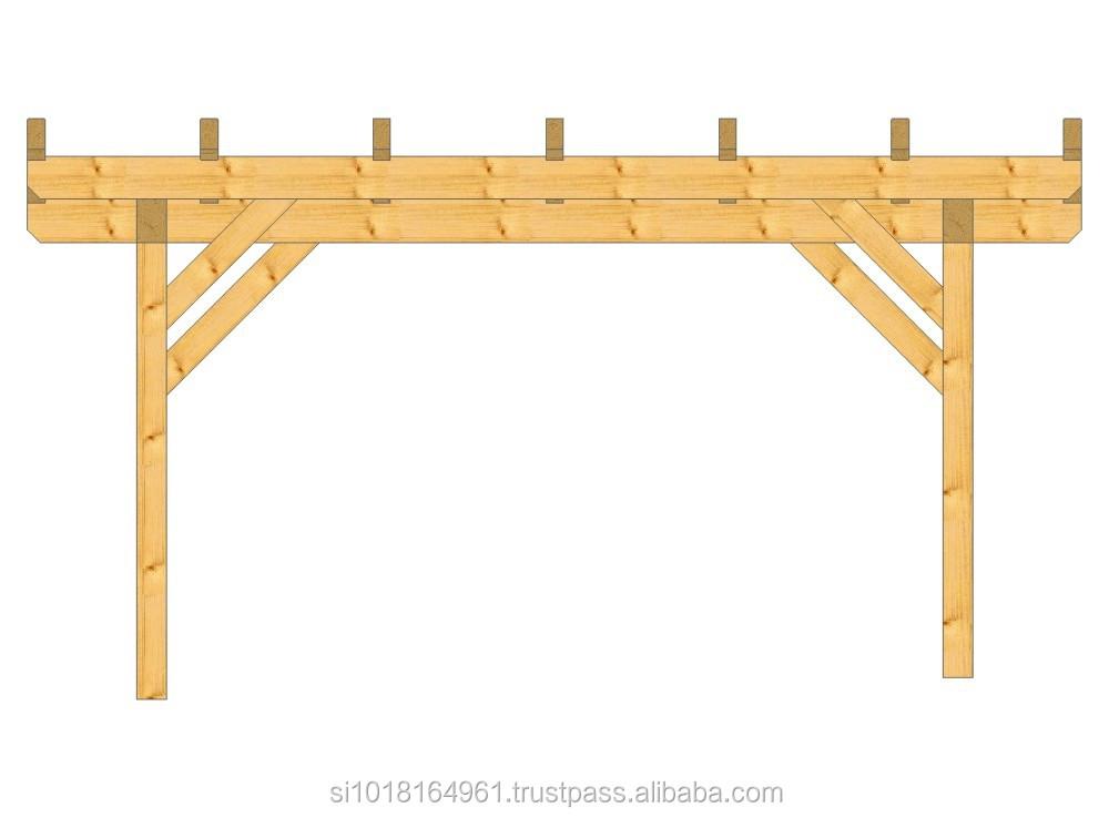 Una macchina posto auto coperto in legno( legno lamellare abete o)-Garage, tetto e posto auto ...