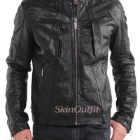 Men's Fitted Designer Leather Jackets [carmel] Er.lk003