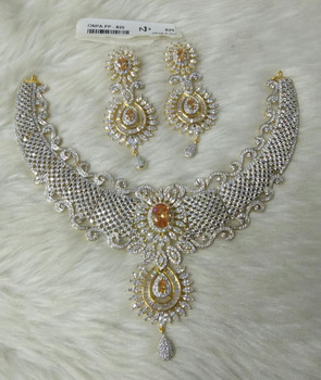 Choker Pattern African Bride Collection American Diamond Necklace
