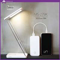 Novelty technology LED table stand lamp 3600mah rechargeable battery for phone