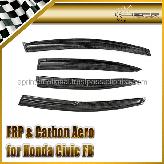 EPR - Carbon Fiber / FRP Fiber Glass For Honda Civic FB 2012 4 Door Window Deflector Wisor