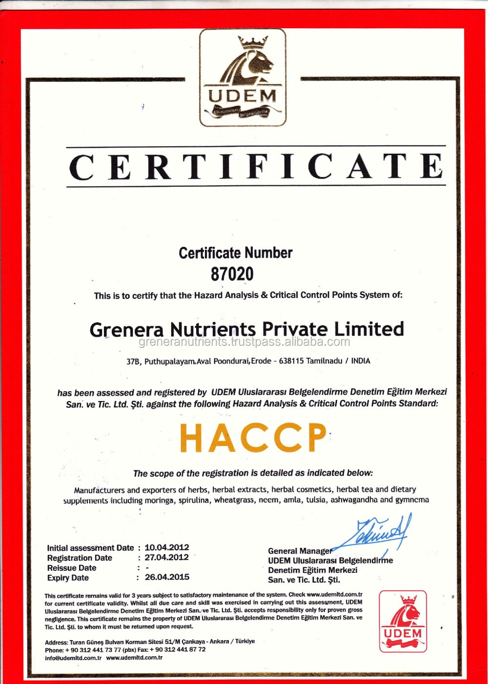 Eu Certified Organic Natural Dried Moringa Oleifera Leaf Powder ...
