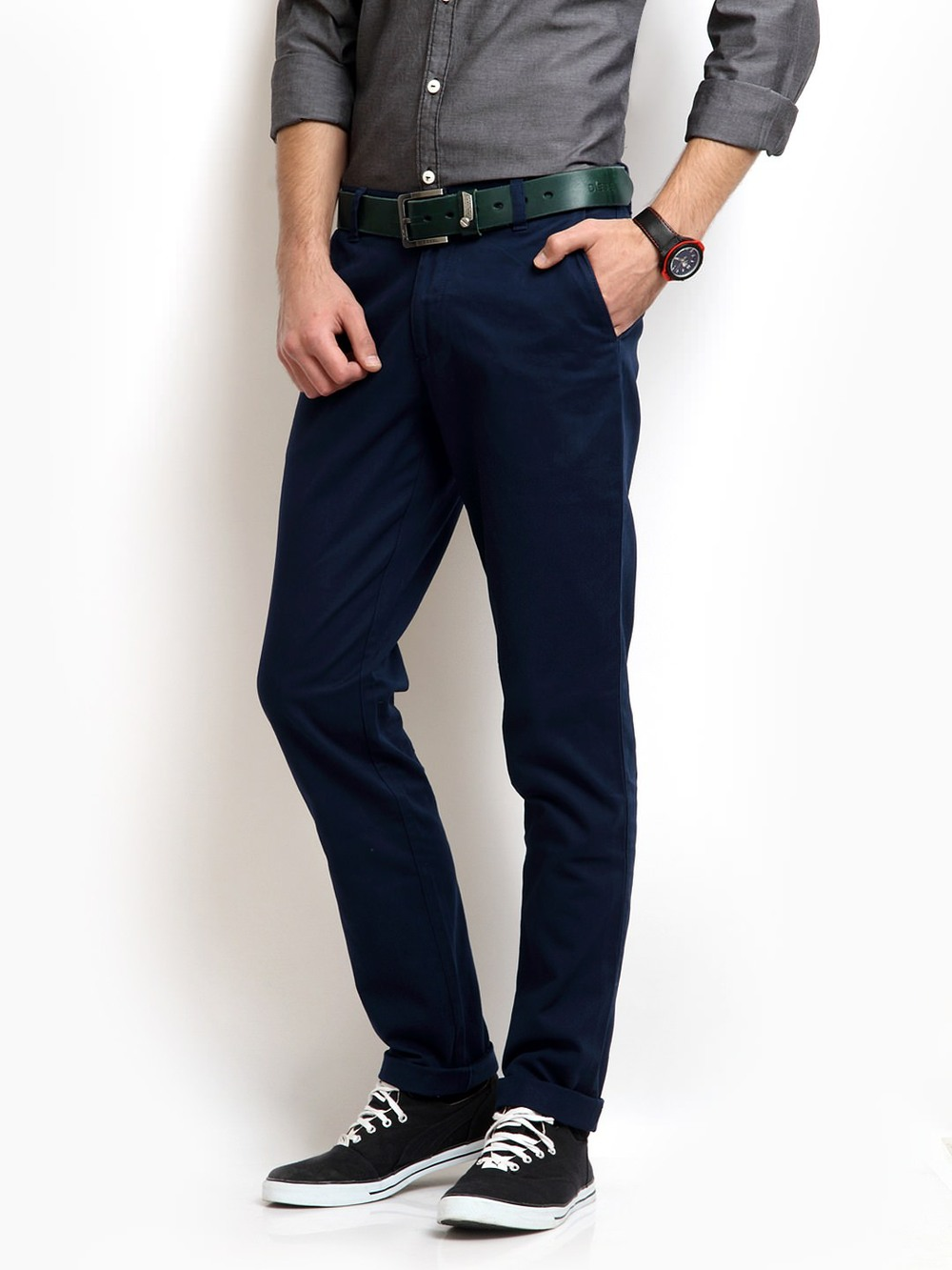 Product Description Premium no iron khaki stretch slim fit flat front flex waistband casual pant.