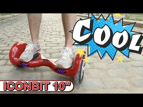 Iconbit 10 Zoll Hoverboard, Smart Scooter, Balance Board, kein IO Hawk, Test, Review, DEU,GER)