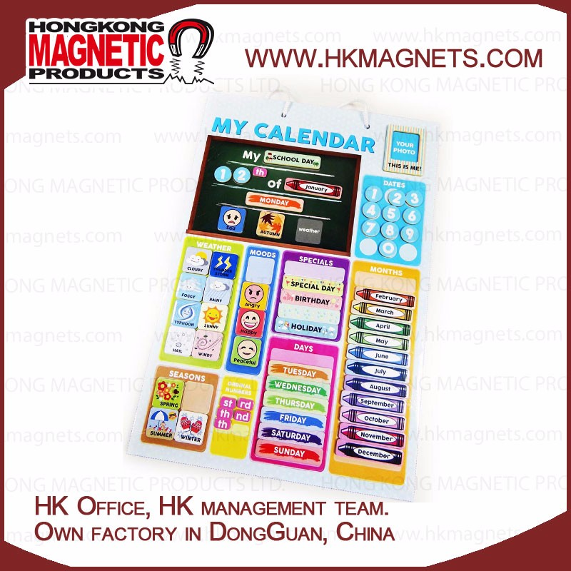 Learn and Play Educational Magnetic Board Calendar