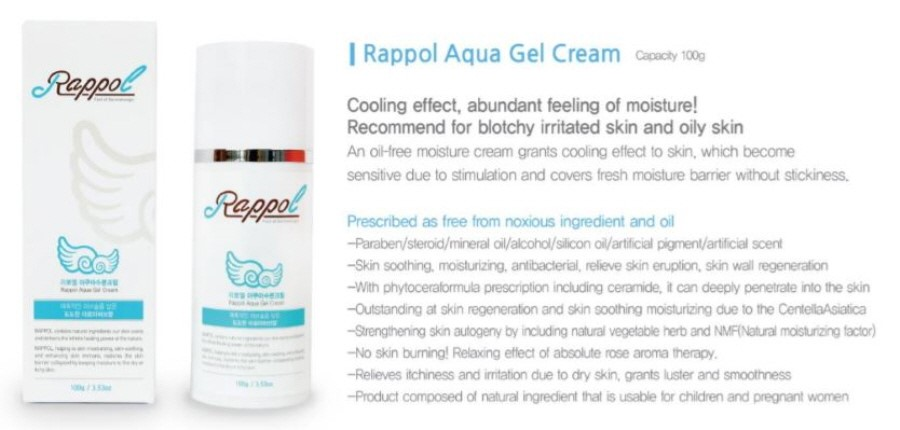 Rappol Aqua Gel Cream,Korean Cosmetics,Moisture,Nature Cosmetic ...