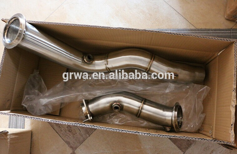 "For 2014-UP BMW F80 F82 M3 M4 Series 4"" exhaust catless downpipe"