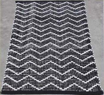 Zig Zag Design Flat Weave Cotton Chenille Dhurrie Buy