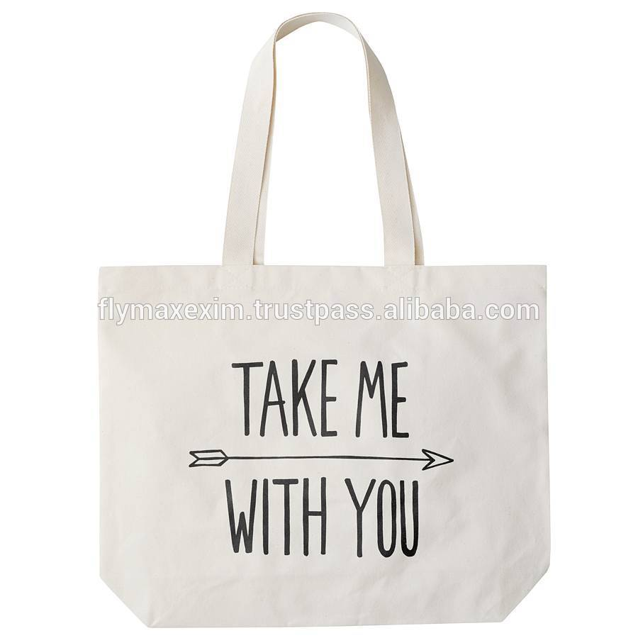 Standard Size Canvas Tote Bag/ Plain White Cotton Canvas Tote Bag ...