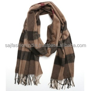 Latest Mens Cashmere Scarf made in india 100% Cashmere Scarves Shawls