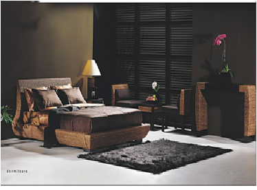 Nice water hyacinth bedroom set, natural rattan bedroom set, high quality product
