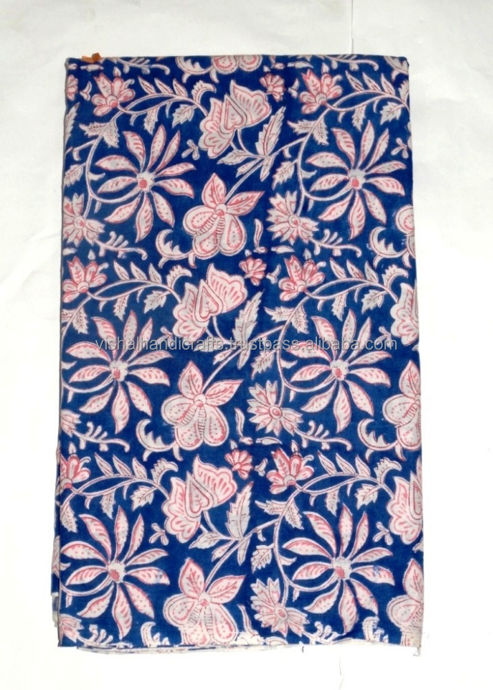Indian Hand Block Cotton Print Fabric Dressmaking Sewing Craft Material Cotton Fabric